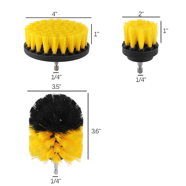 3 pcs Power Scrubber Brush Set for Bathroom | Drill Scrubber Brush for Cleaning Cordless Drill Attachment Kit Power Scrub Brush 5