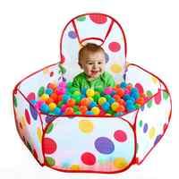 Jogo de bola Pit Crianças Dobráveis Oceano Tenda Jogo Portátil Piscina Aberta Jogo Crianças Tenda Ao Ar Livre/Interior Brincar de Casinha tenda