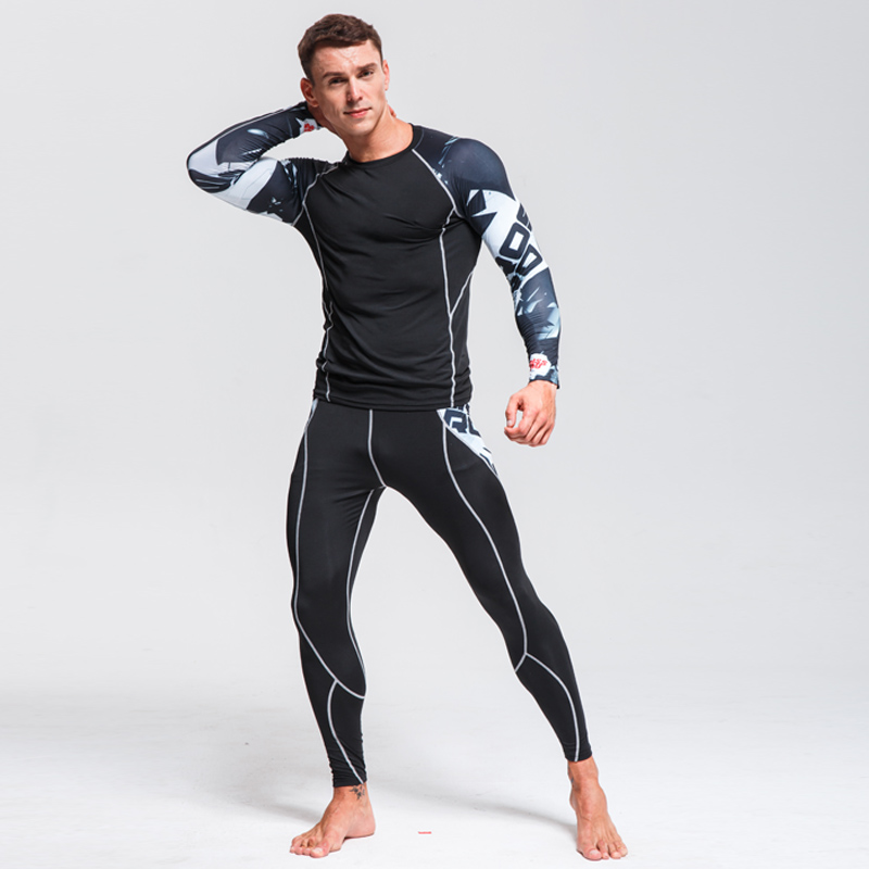 Thermal Underwear Men's Suit New Winter Warm Sportswear Base Layer Fitness Tights Compression Running Suit Men's Brand Clothing