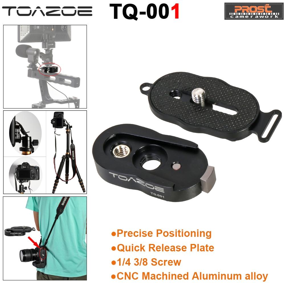 TOAZOE CNC Photo Studio Kits Tripod Ballhead Quick Release Plate 1/4 3/8 Screw for DSLR Camera