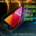 9H Screen protector tempered glass FOR ASUS Zenfone 2 Laser ZE550KL ZE551KL Z00LD Z00TD ze550 ze551 550 kl 550kl tela case cover