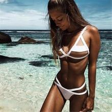 Bikini 2019 bandeau Swimsuit Women V bottoms Thong Swimwear mesh bikini high quality ladies swimsuit XL seamless hipster skimpy bikini bottoms