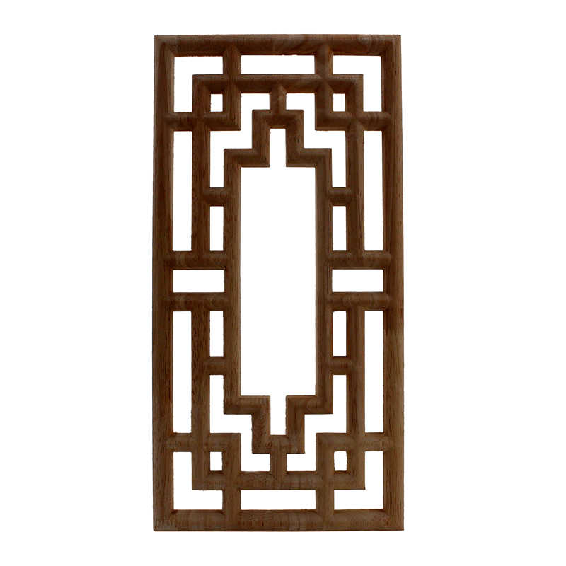VZLX Vintage Unpainted Carved Corner Onlay Frame for Home Wall Cabinet Door Wood Appliques for Furniture Wooden Madera Legno