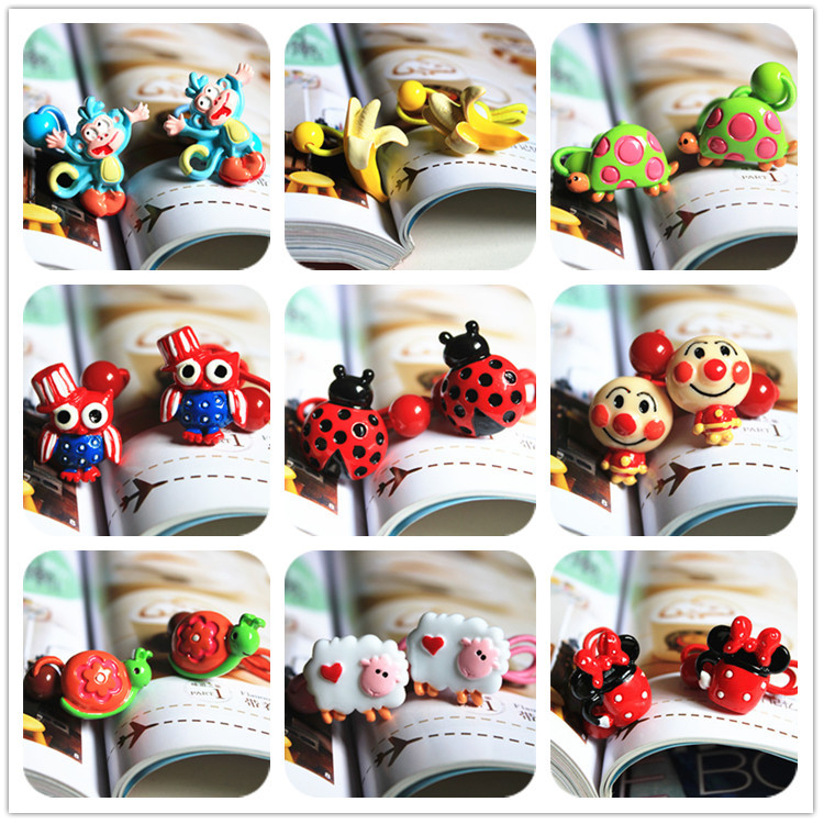 Cute Cartoon Animal Children Headwear Elastic Hair Bands Princess Hair Ropes Kids Headdress Girls Hair Accessories Baby Headband children baby girls rhinestone flower star headband hair bands kids girls wedding party hair accessories princess headwear hb003