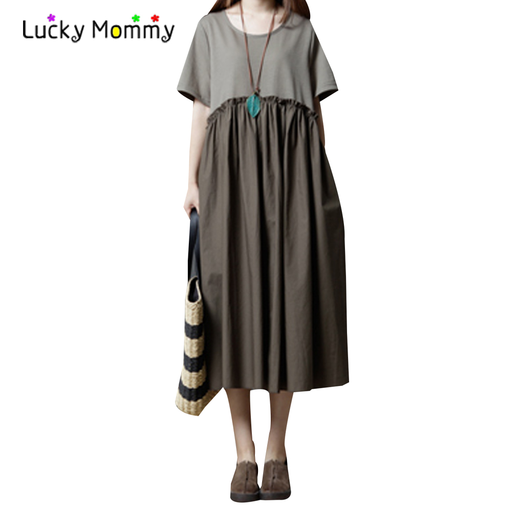 Long Maxi Boho Maternity Dress Loose Cotton Linen Pregnancy Clothes 2017 Summer Bohemian Maternity Clothing for Pregnant Women купить