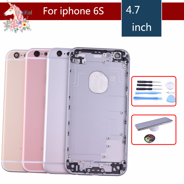 new arrival 5477b 485c5 Original For iphone 6 6G 6S 6 Plus 6S Plus case body chassis full housing  shell assembly battery cover replacement Middle Frame-in Mobile Phone ...