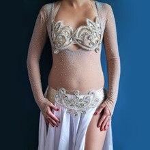 Justaucorps une pièce pour femmes, accessoires de danse, chemise à bascule, body de danse du ventre, perçage à chaud, grande taille, haut manches longues