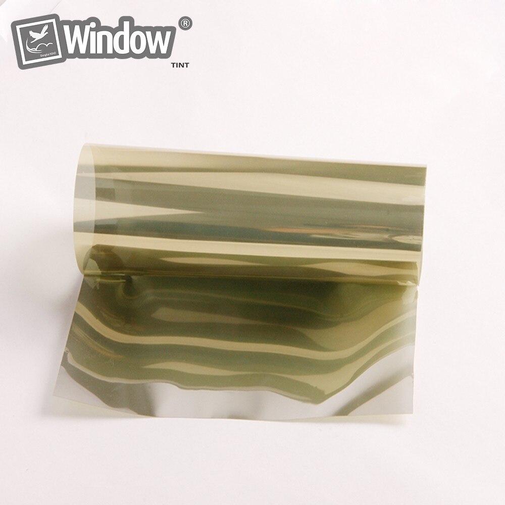 90 cm x 1000 cm Or Argent Miroir Autocollants Fenêtre Film Une façon Miroir Réfléchissant Fenêtre Solaire Film Teinte VLT 15% Haute qualité