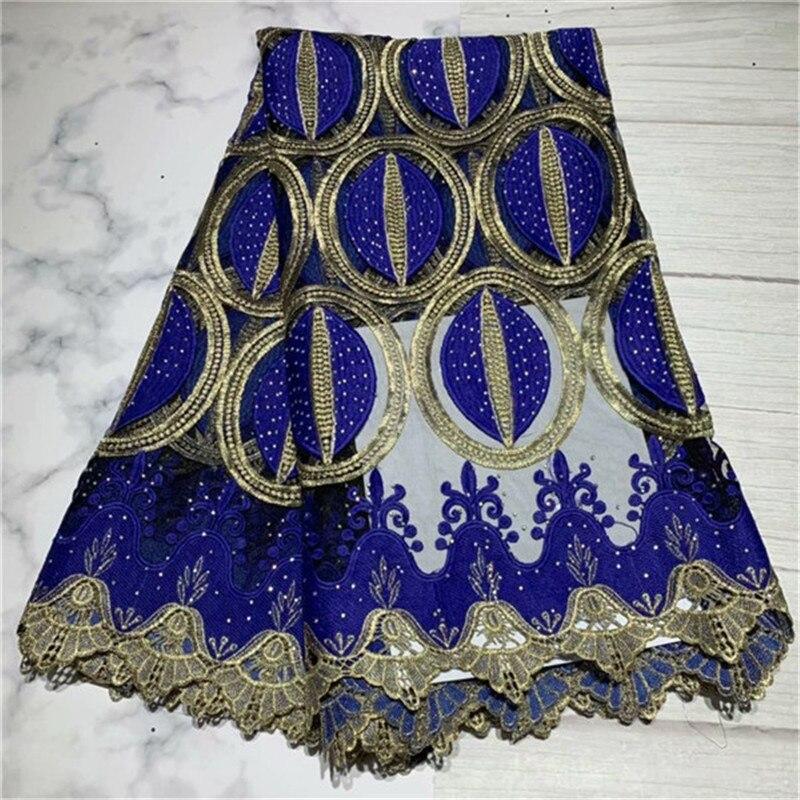 2019 dernier nigérian mariage africain dentelle tissu/haute qualité bleu maille Tulle dentelle/Guipure cordon dentelle tissu pour fête de mariage