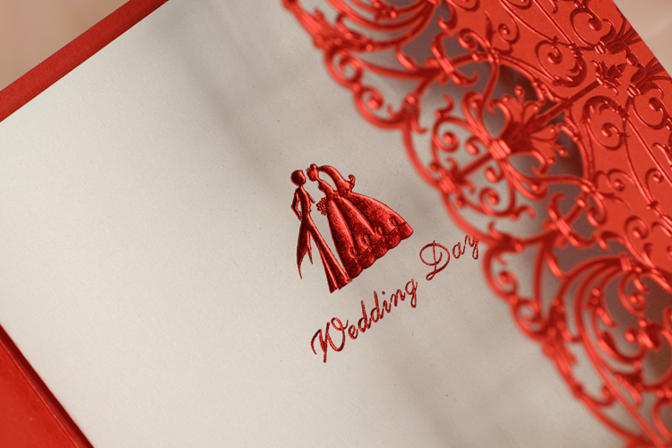 Aliexpress Buy Free Print 50pcs Lot Lace Laser Cut Red Birthday Invitations