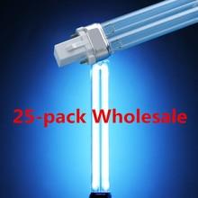 25-pack Wholesale UVC Bi-pin G23 Base Quartz Replacement  Linear Twin Tube Light Bulb Sterilizers Clarifiers Aquariums 9W