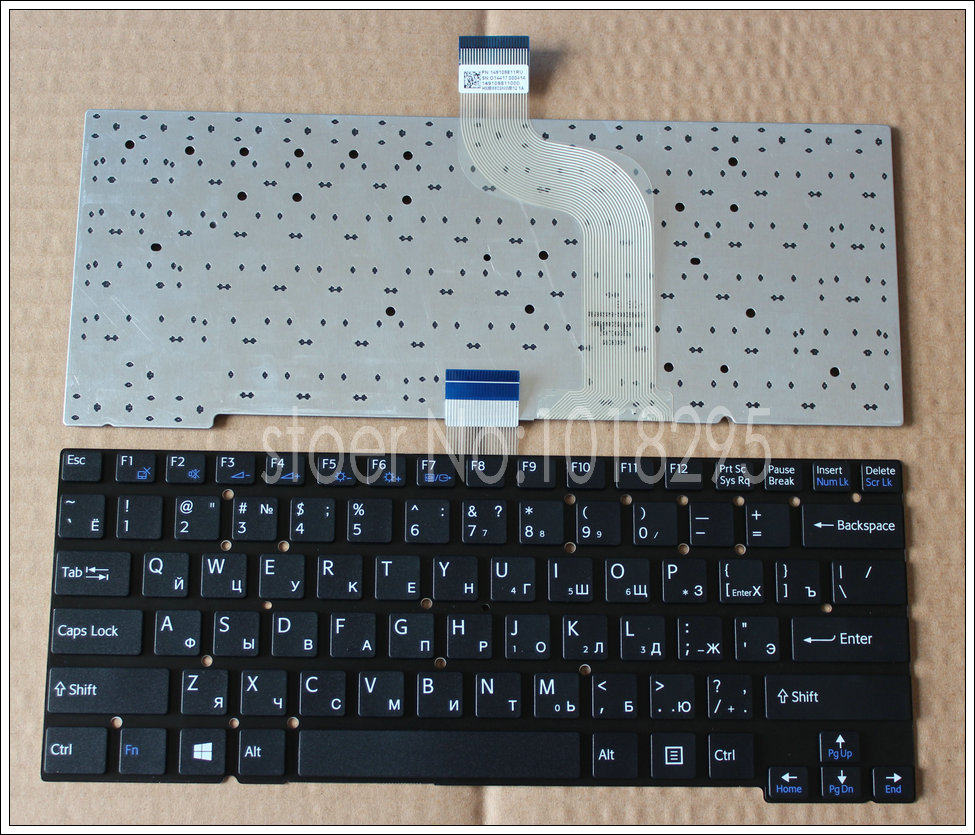 цена на New Russian Keyboard For Sony SVT14112CXS SVT14113CXS SVT14115CXS SVT14117CXS WITHOUT Frame black laptop Keyboard RU