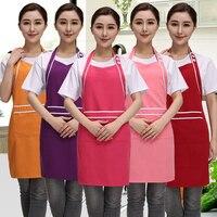 높은 품질의 새로운 한국어 패션 주방 면 앞치마 허리 요리 앞치마 성인