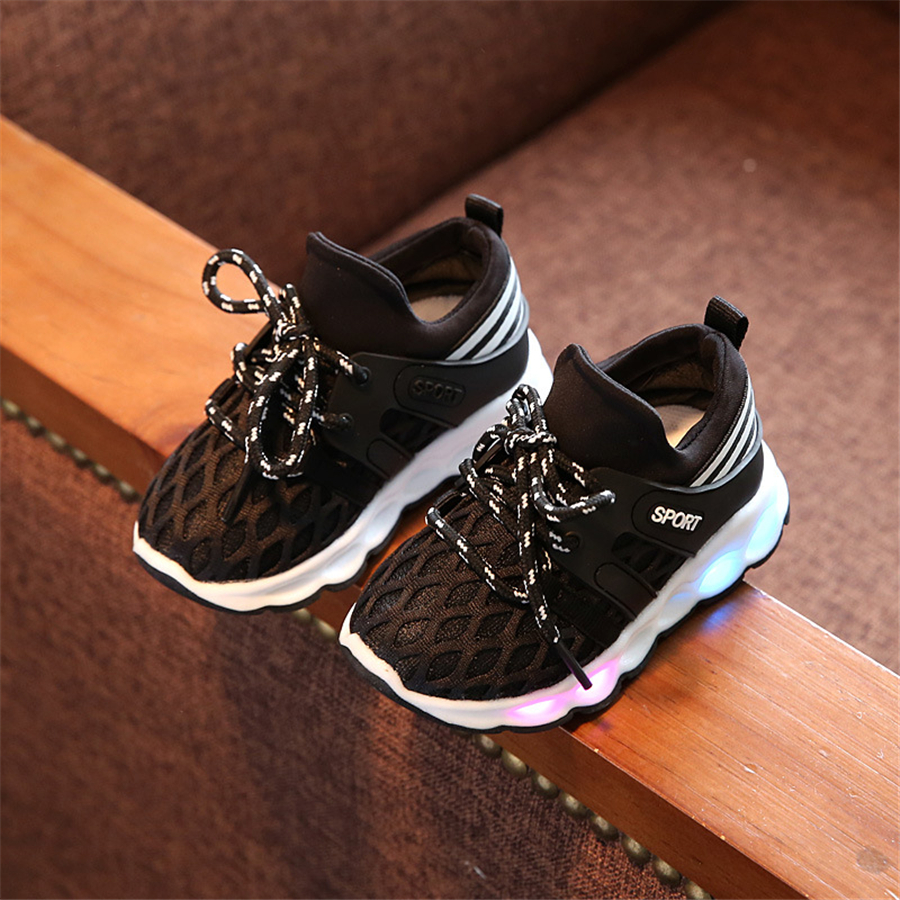 Kids Shoes With Light Chaussure Led Enfant Spring Boys Sneakers With Led Lights Summer Little Girls Shoes With Led 506004 bright leather children led kids light shoes for boys girls new fashion luminous sneakers chaussure enfant lumineuse shoes