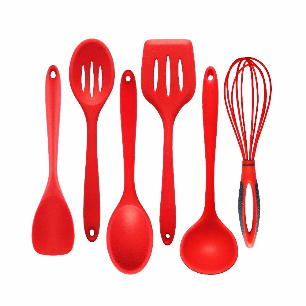 6 teil/satz Küche Silikon Kochen Werkzeuge Food Grade Silikon und ...