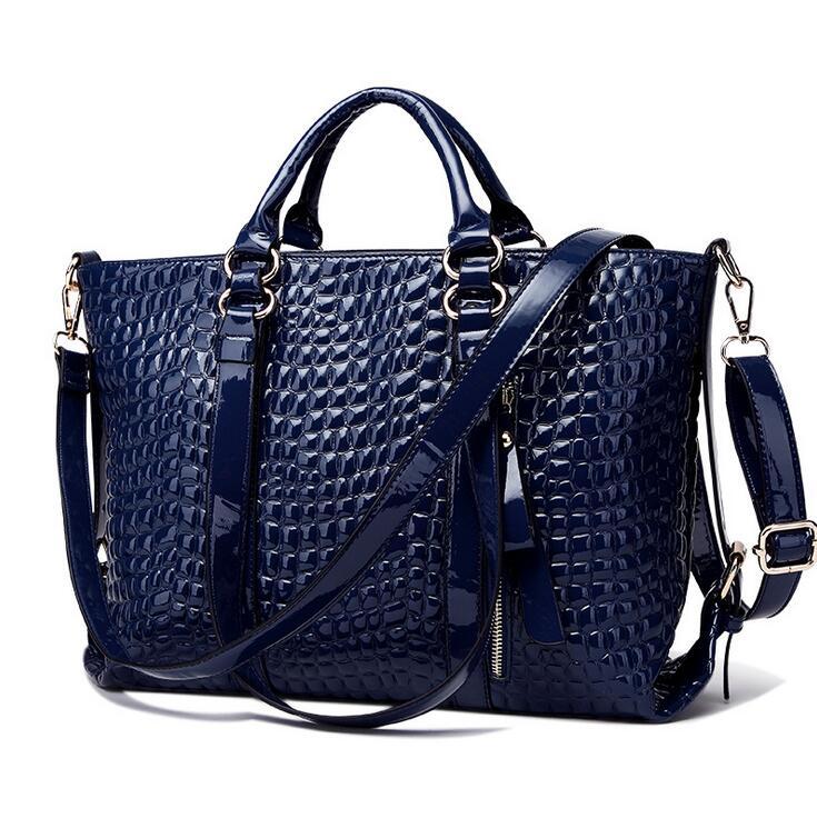 New handbag European fashion handbag crocodile grain packages Single shoulder bag leisure inclined shoulder bag