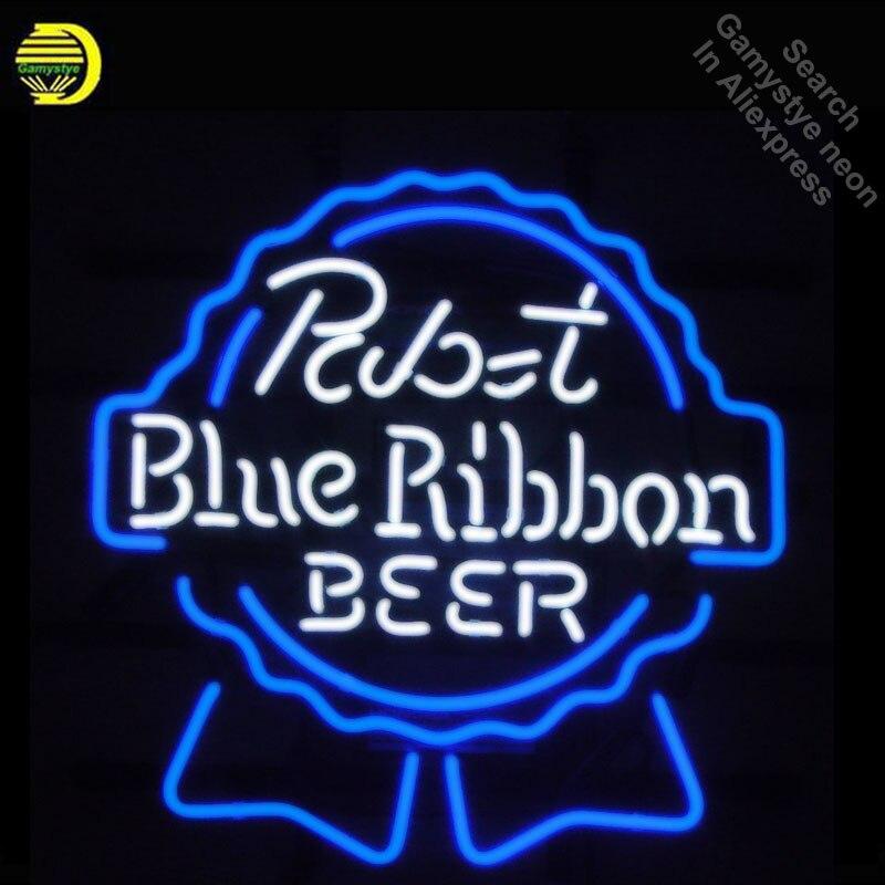 Enseigne au néon pour Pabst ruban bleu néon lumière signe magasin affichage Pirate signes néon Tube signe artisanat Publicidad lampes personnalisé