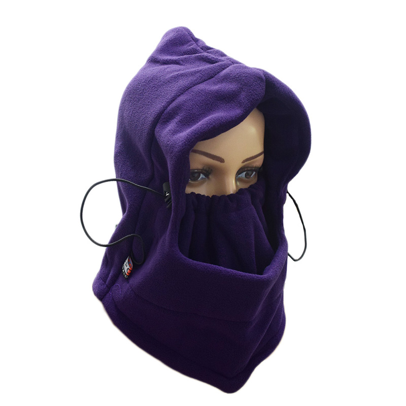 Hot sale Outdoor Winter Fleece Hat increase fleece mask ski hat windproof hat riding mask to protect the face and neck