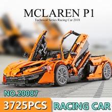 DHL Лепин 20087 технические игрушки в MOC-16915 оранжевый Супер гоночный автомобиль набор строительных блоков Кирпичи детей игрушки модель автомобиля 42083 подарок