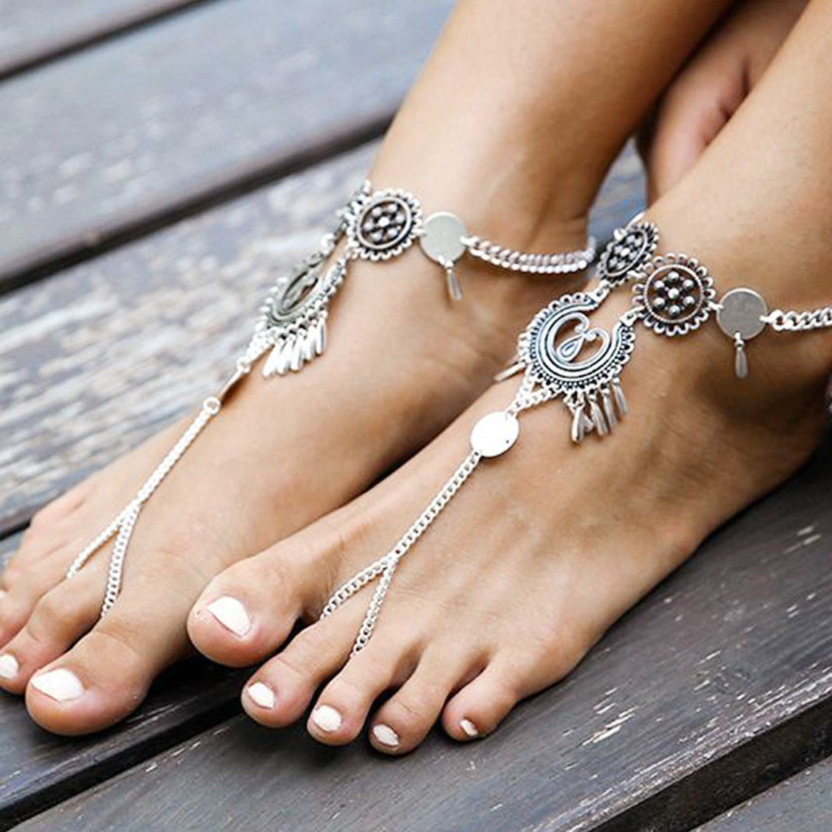 Браслеты через палец на ногу