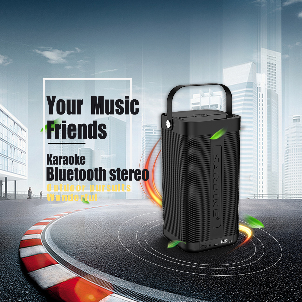 Sardine A9 portable bluetooth speaker 5200mAh 16w high power wireless speaker support lossless music TF card amazing sound box sardine a9 portable bluetooth speaker 5200mah rechargeable battery 16w high power mp3 music amplifier soundbar usb tf card aux