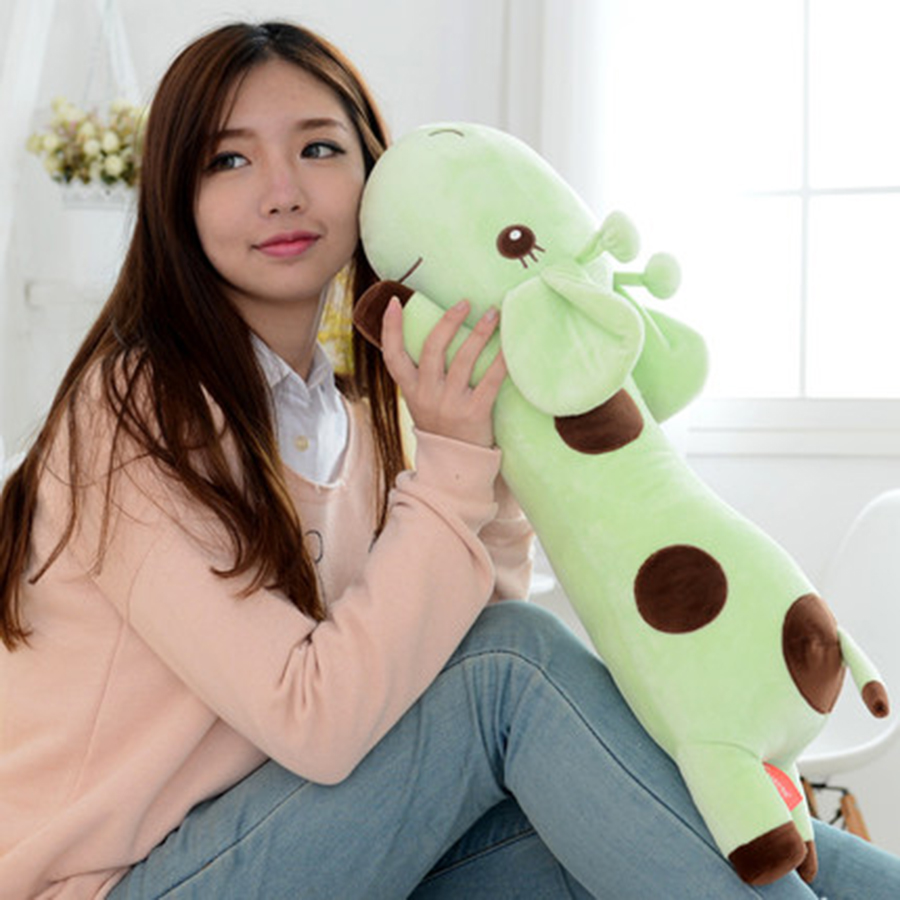 Cute Plush Giraffe Toys Soft Colorful Animal Dear Doll Kawaii Spot Toy For Baby Kid Children Peluches Girl Birthday Gift 70C0093 cute bulbasaur plush toys baby kawaii genius soft stuffed animals doll for kids hot anime character toys children birthday gift