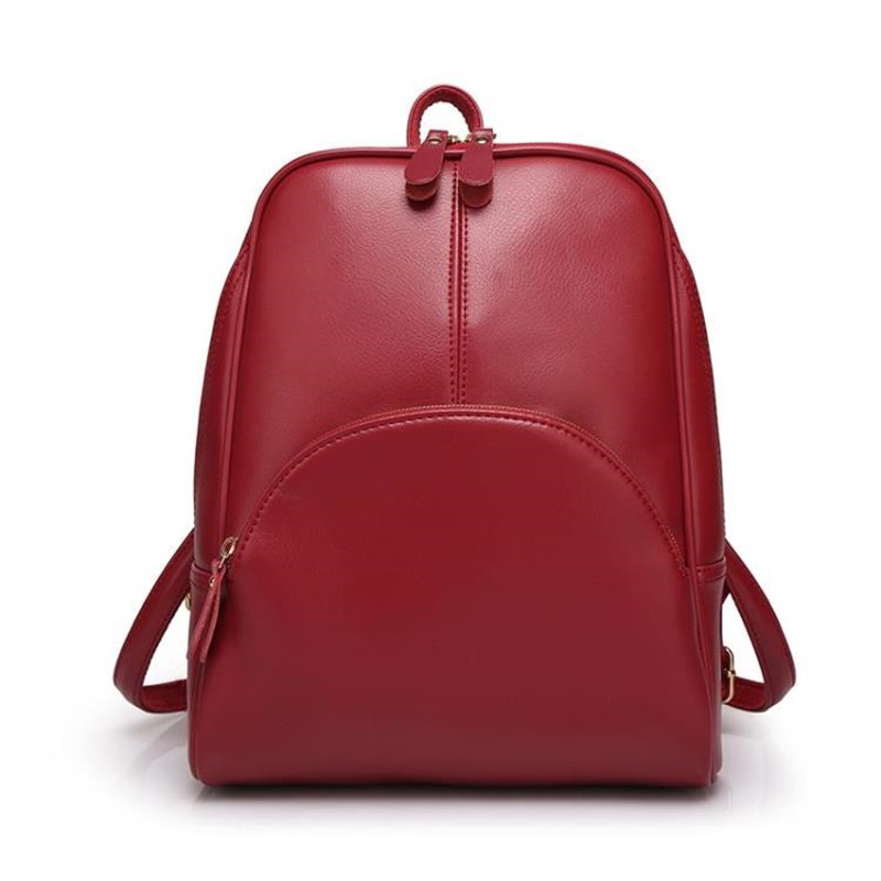 Women Travel Casual PU Leather School Backpack Ladies Girls Backpacks Daypack Mochila Female bosch rotak 40