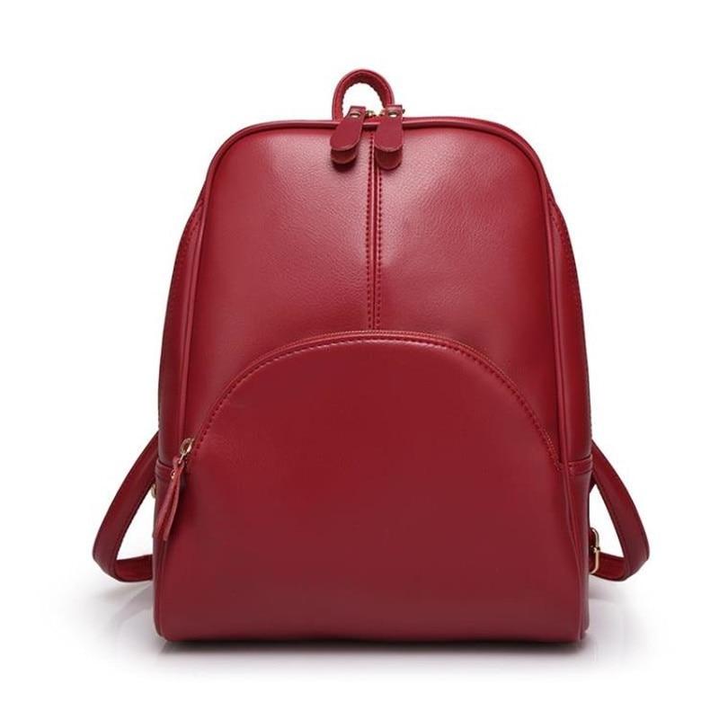 Women Travel Casual PU Leather School Backpack Ladies Girls Backpacks Daypack Mochila Female