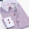 Brand Stripe Men Shirt Long-sleeve Casual Men Dress Shirt Clothing For Men Cotton Slim Fit Male Social Dress Shirt Plus Size