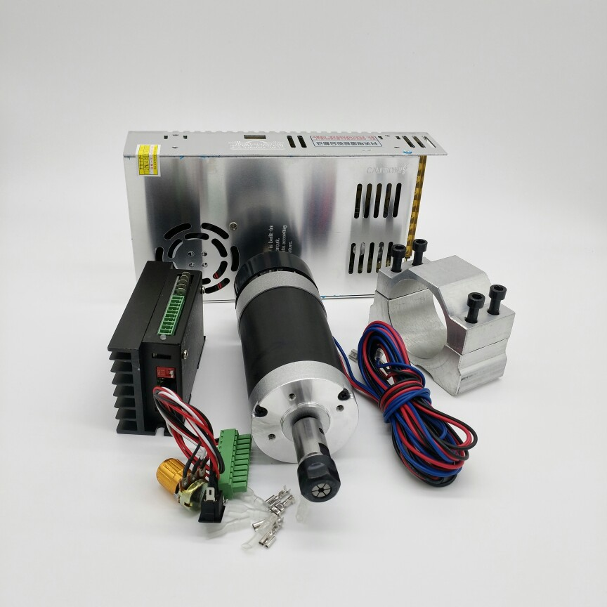все цены на ER16 DC spindle motor grinding drilling motor 500W high-speed air-cooled spindle + power + controller + fixture онлайн