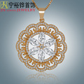 JN New Fashion Lady Necklace High Quality Gold-plated Jewelery Large Pendant Sweater Chain Beautiful Exaggerated Necklace Very S