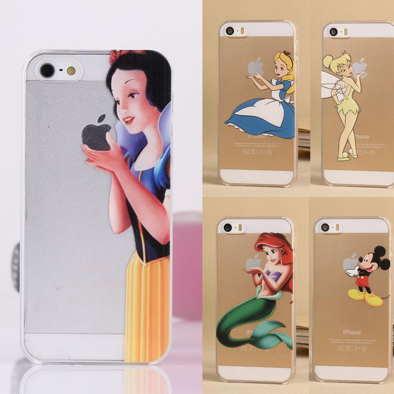 sneakers for cheap e8868 4b92f US $1.5 |For Apple Iphone 5 5S SE Case Cartoon Painting Style Snow White  Hand Grasp Minions Mermaid Mickey Transparent Hard PC Cover on  Aliexpress.com ...