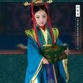 Fengling la primera infancia Mi Yue 2015 más nuevo TV juego leyenda de Mi Yue - antigua Qin emperatriz Xuan magnífico traje de la etapa para niña