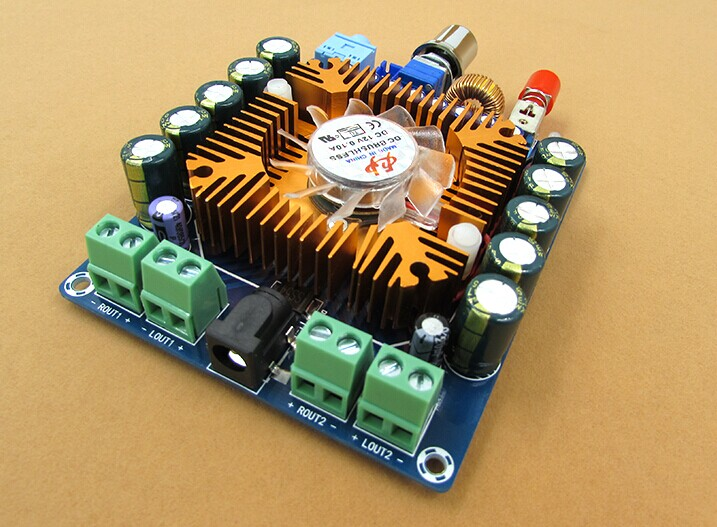 Free shipping DC12V TDA7850 4.0 channel mini HIFI car audio amplifier board 50W*4