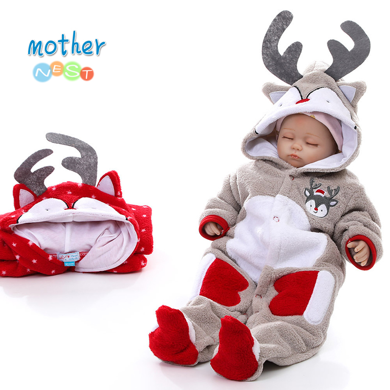 2018 Newly Christmas Baby Stitch Romper Santa 0-36M Onesie Winter Clothes Coral Fleece Baby Jumpsuit Hooded Halloween Costume недорго, оригинальная цена