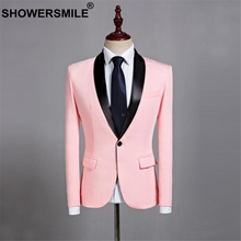 SHOWERSMILE Pink Blazer Men Wedding Groom Suit Jacket Smart Casual Fashion Plus Size 4XL 5XL Spring Stage Singer Clothes