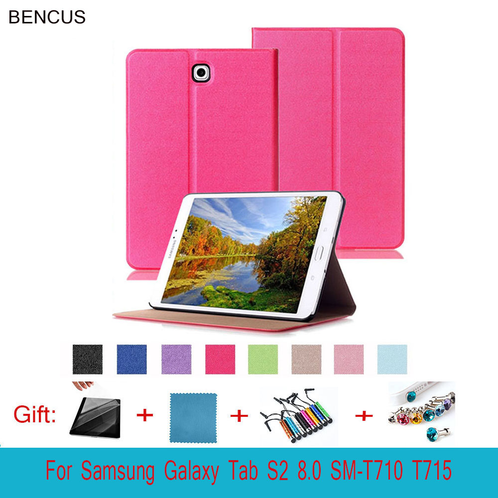 BENCUS Tab S 2 8.0 Smart Cover Touch Series Triple Folding Flip PU Leather Case for Samsung Galaxy Tab S2 8.0 SM-T710 T715