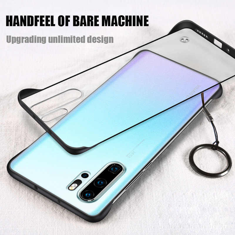 Frameless Transparent Matte Hard Case For Huawei P20 Pro Cover For Huawei P30 Mate 10 20 Honor 20 Pro Case With Finger Ring