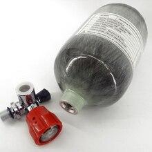 Ac52011 2l ce 4500psi m18 * 1.5 paintball/pcp 탱크 탄소 섬유/airsoft 실린더 pcp 공기 소총/airforce condor 밸브