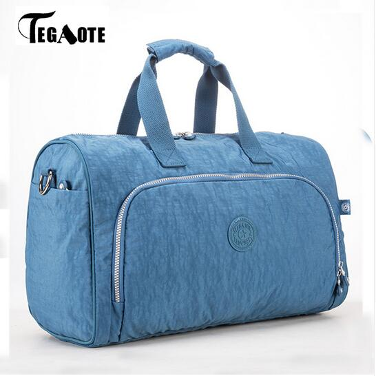 TEGAOTE 2017 Nylon Waterproof Large Capacity Travel Bags Women Travel Duffle Bags Solid Casual Tote Bolsas Travel Luggage 280 tegaote newest women travel bags large capacity duffle luggage big casual tote bag nylon waterproof bolsas female handbags