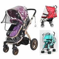Carrinho de bebê capa chuva pvc universal vento poeira escudo com janelas para carrinhos carrinhos carrinho de criança acessórios