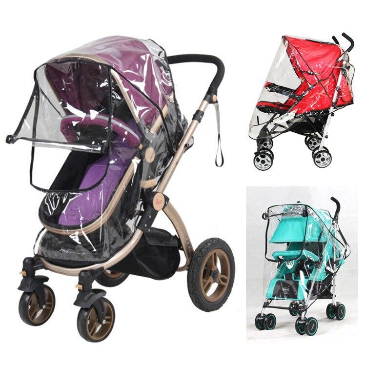 Carrinho de bebê capa de chuva PVC Universal Poeira Vento Escudo com O windows Para Carrinhos Carrinhos carrinho de criança acessórios