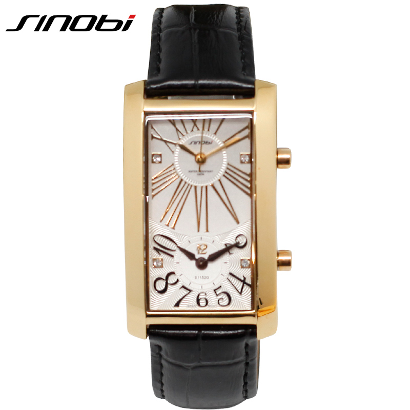 SINOBI Gold Business Couples Wristwatch 2019 Dual Movement L