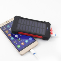 2017 New Portable Waterproof Solar Power Bank 10000mah Dual USB Solar Battery Charger Powerbank For All