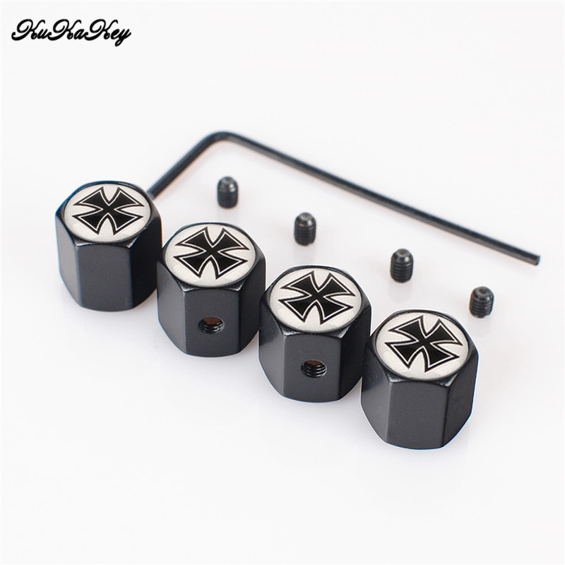KUKAKEY 4PCS/SET Aniti-theft Moto Bicycle Car Wheel Tire Valve Caps For Kia Rio K2 Ceed Sportage Soul Sorento Cerato Spectra