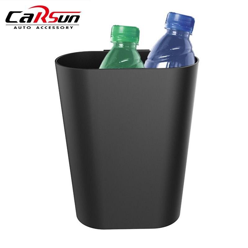 1Pc Car Organizer Door Storage Barrel with Hook Hanging Car Trash Cans Auto Storage Box Bin Car Styling Accessories