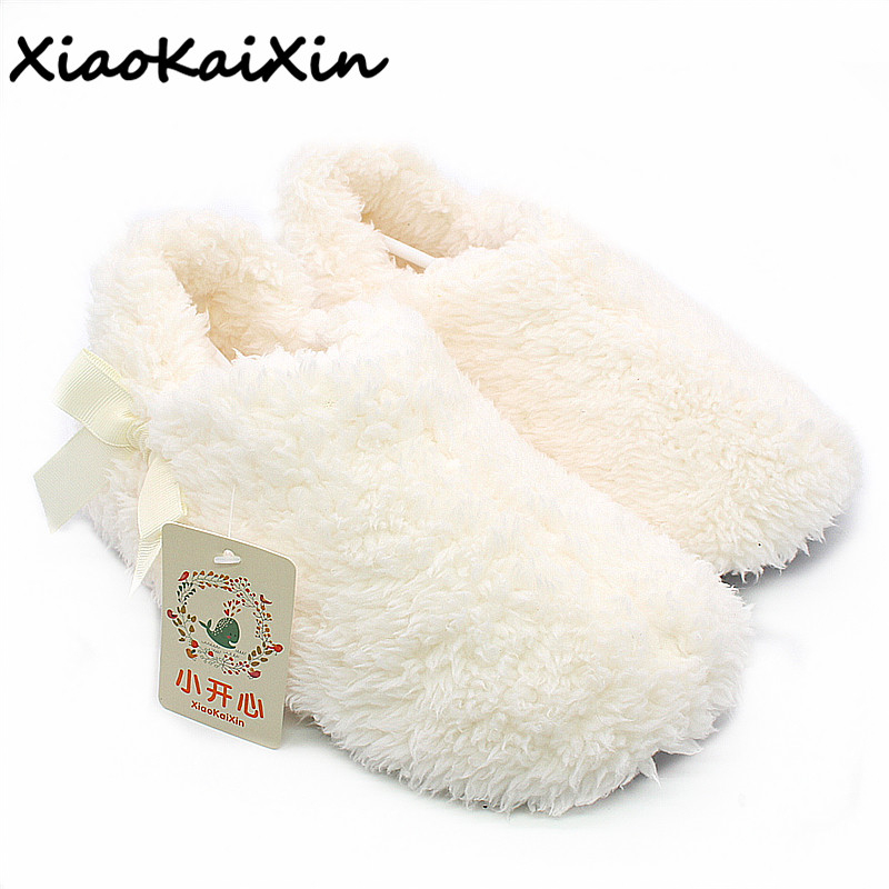 New Fashion Women Winter Soft Bottom Indoor Home Slippers Women Pure White Coral Suede Simple Cute Plush Floor Slippers Huarache tolaitoe autumn winter animals fox household slippers soft soles floor with indoor slippers plush home slippers