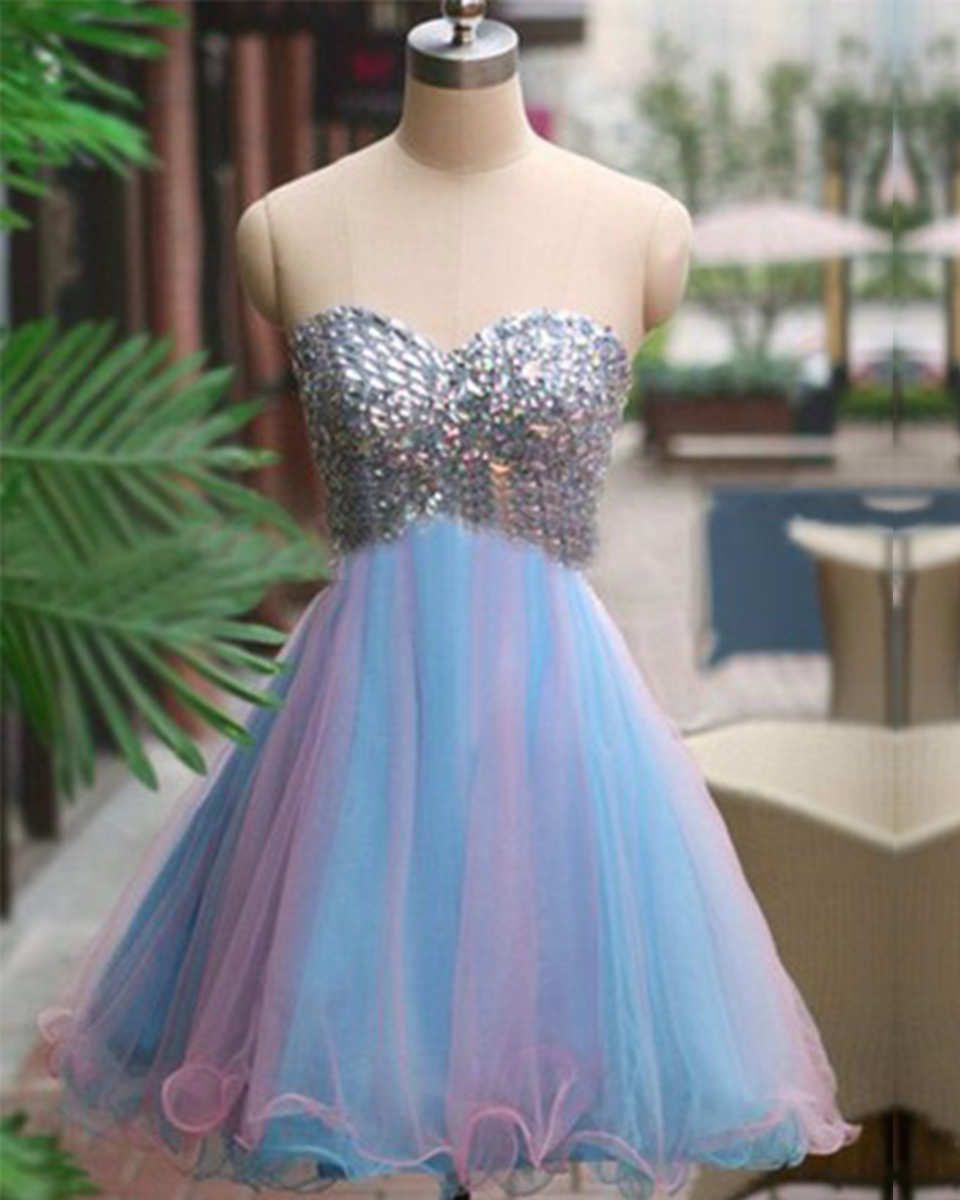 2016 New Sexy Tulle Beaded Sequined Short Prom font b Dresses b font Ruffles Ball Gown
