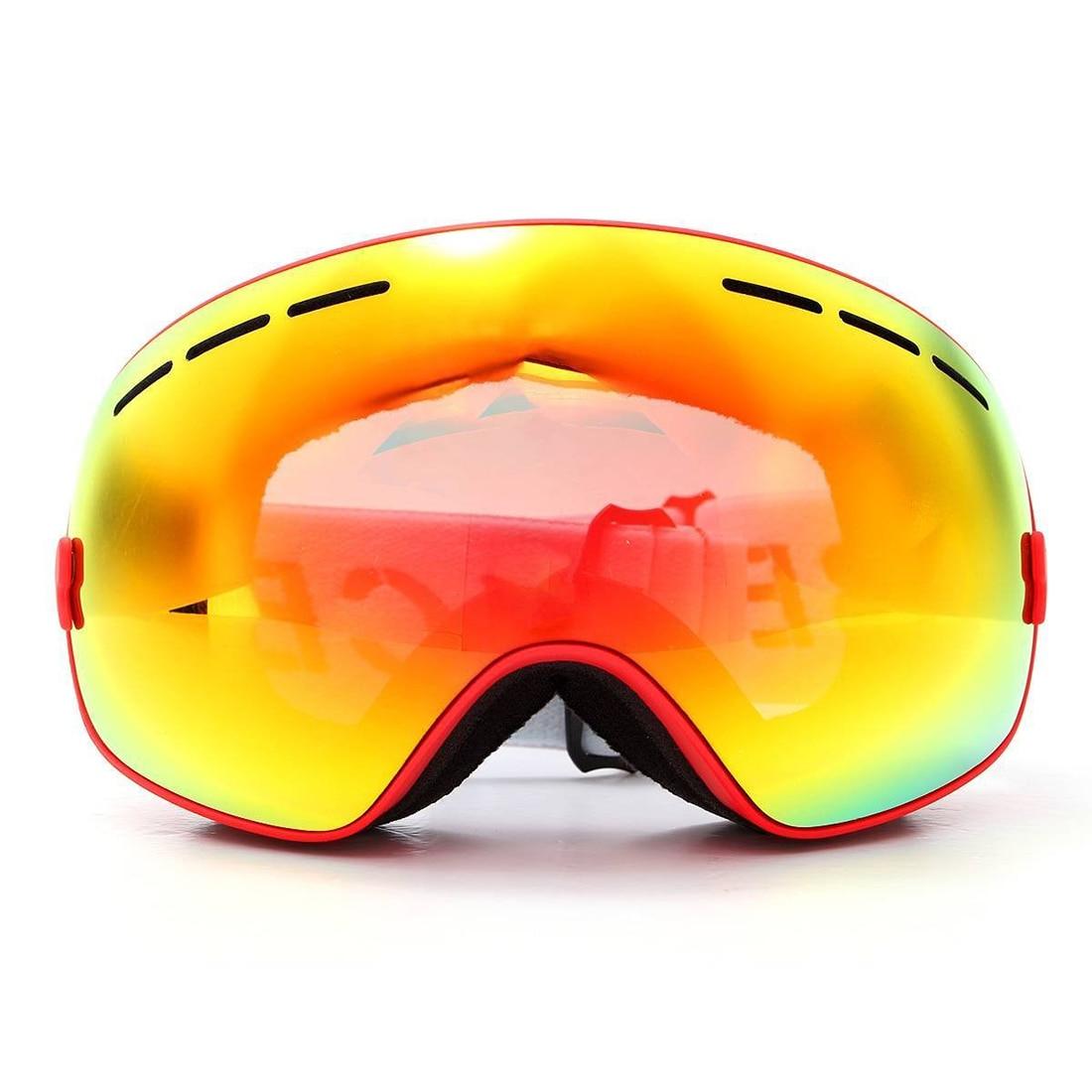 5Set Sale BENICE ski goggles double layer anti-fog eyes red frame