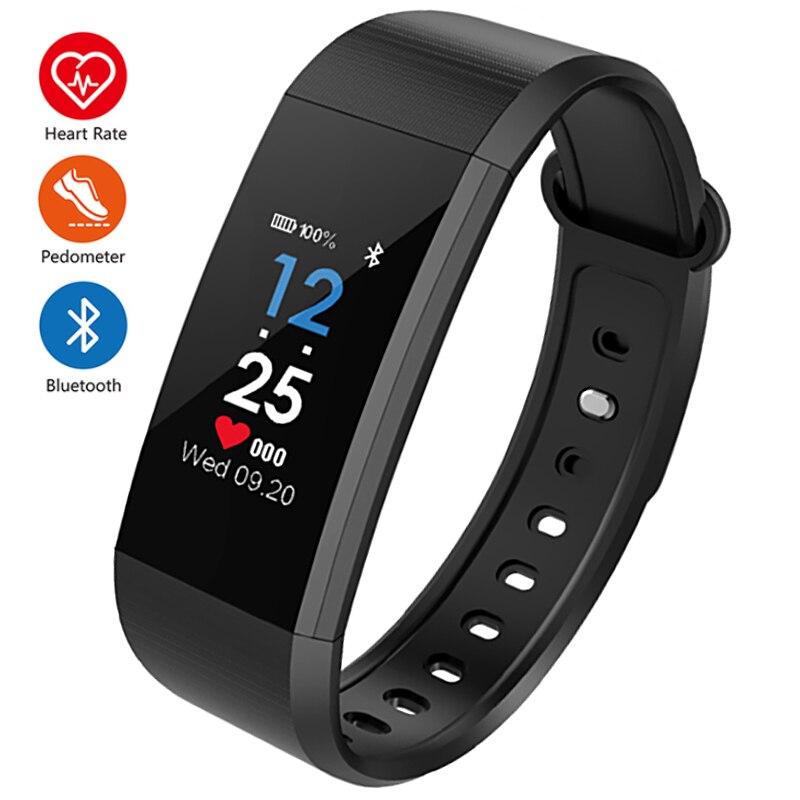 New Bluetooth Sport Smart Bracelet Women Men Children Digital Watch Waterproof Clock Heart Rate Blood Pressure For Android iOS